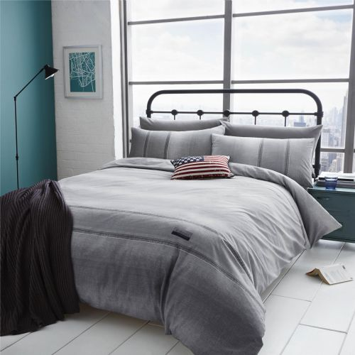 Catherine Lansfield Denim Grey Bedding Set